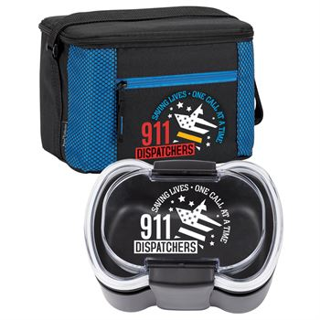 911 Dispatchers: Saving Lives, One Call At A Time Atlantic Lunch/Cooler Bag & 2-Tier Locking Food Container Combo