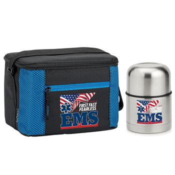 EMS:First.Fast.Fearless -Atlantic Lunch Bag / Stainless Steel Food Container Combo