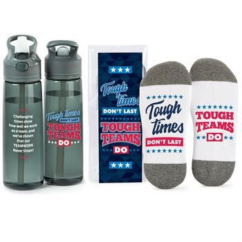 Tough Times Don't Last, Tough Teams Do Wellness Water Bottle & Socks Gift Set