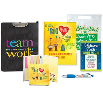 Academicn Monthly Desk Planner Supply Kit- 6 Items In 1