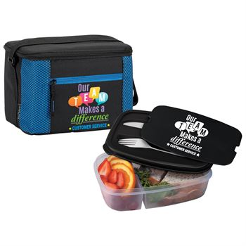 Customer Service: Our Team Makes A Difference Atlantic Lunch/Cooler Bag & 2-Section Food Container Gift Set