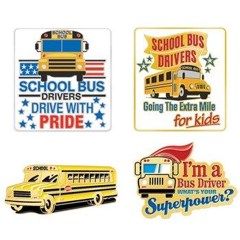 School Bus Driver Appreciation Lapel Pin Assortment Pack