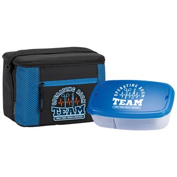 Operating Room Team: Finely Tuned, Fiercely Dedicated Lunch/Cooler Bag & Food Container Gift Set