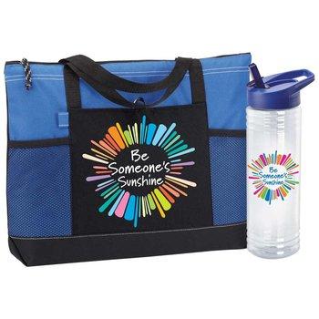 Be Someone's Sunshine Moreno Tote Bag & Solara Water Bottle Gift Set