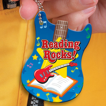 "Reading Rocks! Award Tag with 24"" Chain"