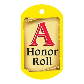"A Honor Roll Award Tag With 4"" Chain"
