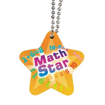 Math Star Award Tag With 4