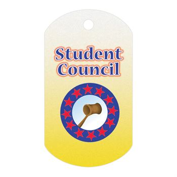 Student Council Laminated Tag With 4