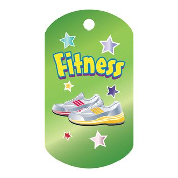 Fitness Laminated Award Tag With 24