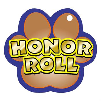 Honor Roll Paw-Shaped Award Tag With 24