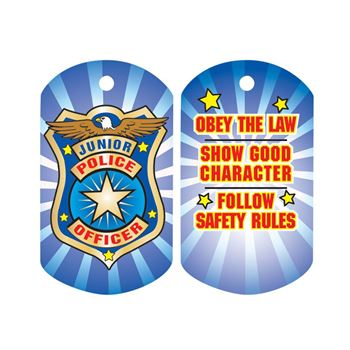 Junior Police Officer Laminated Tag with 24