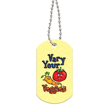 "Vary Your Veggies Laminated Dog Tag With 24"" Chain"