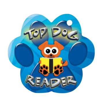 Top Dog Reader Laminated Award Tag With 24
