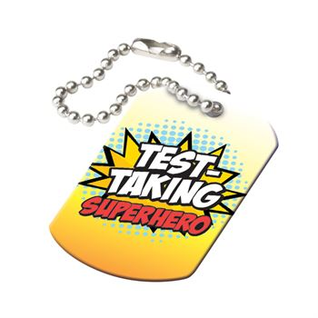 Test-Taking Superstar Laminated Tag
