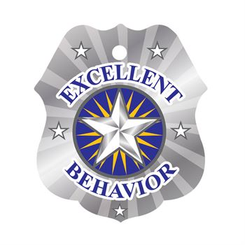 Excellent Behavior Laminated Award Tag With 24