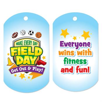 Make Every Day Field Day: Get Out And Play! Award Tags With 4