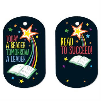 Today A Reader, Tomorrow A Leader Laminated Award Tags With 4