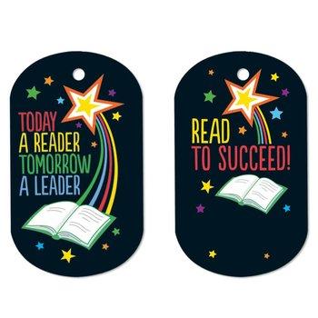 Today A Reader, Tomorrow A Leader Laminated Award Tags With 24