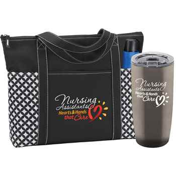 Nursing Assistants Hearts & Hands That Care Atlantic Tote & Sierra Tumbler Gift Set