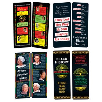 Black History Month Bookmark 400-Piece Assortment Pack