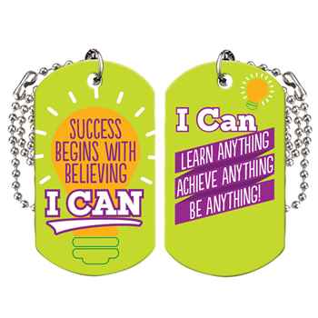 Success Begins With Believing I Can Growth Mindset Award Tag With 4