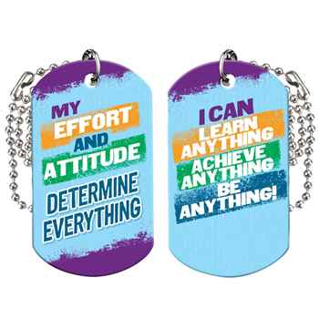 My Effort And Attitude Determine Everything Growth Mindset Award Tag With 4
