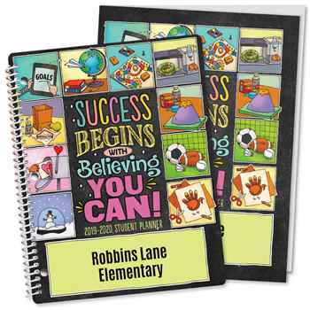 Success Begins With Believing You Can! Planner/Folder Combo