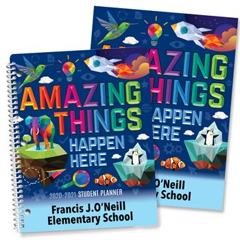 Amazing Things Happen Here Planner/Folder Combo - Personalization Available
