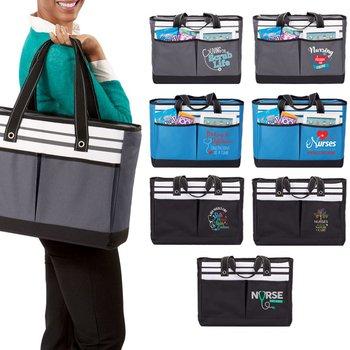 Nurses: Traveler Two-Pocket Tote Bag Plus Personalization