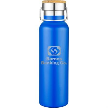 Double Wall Stainless Steel Vacuum Bottle - 20 Oz. - Laser Engraved