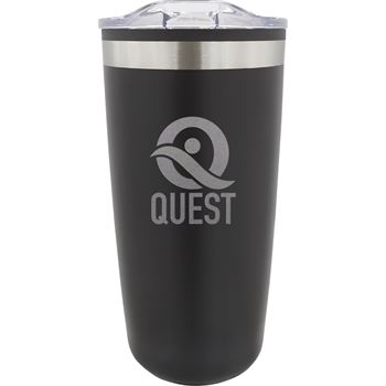 Double Wall Stainless Steel Tumbler - 20 Oz. - Laser Engraved