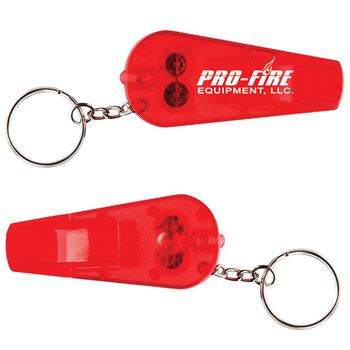 Light And Whistle Key Ring - Personalization Available
