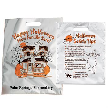 Happy Halloween: Have Fun, Be Safe! Reflective Trick-Or-Treat Bag - Personalized