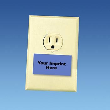 Rectangular Shaped Safety Outlet Plug - Personalization Available