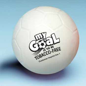 My Goal Is To Be Tobacco-Free Soccer Ball - Personalization Available