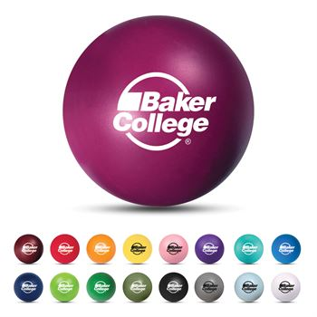 Round Shaped Polyfoam Stress Ball - Personalization Available