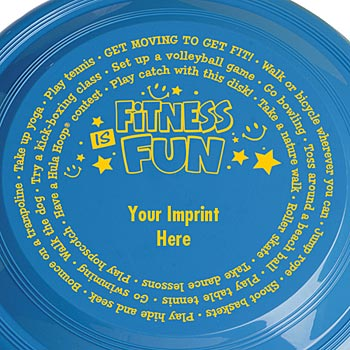 "Fitness Is Fun 9"" High Flyer Discs - Personalization Available"