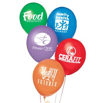 "11"" Biodegradable Latex Balloons - Personalization Available"