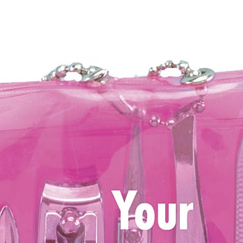 5-Piece Compact See-Through Manicure Kit - Personalization Available