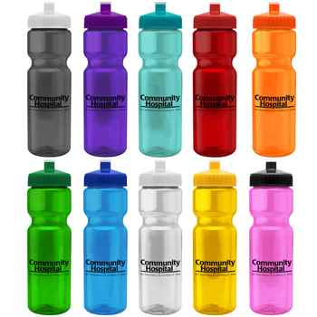 28-oz Translucent Water Bottle - Personalization Available