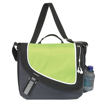A Step Ahead Messenger Bag With Single Carrying Handle - Personalization Available