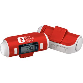 Pedometer With Flashlight And Siren - Personalization Available