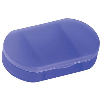 3 Compartment Oval-Shaped Pill Holder - Personalization Available