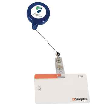 Retractable Badge Holder with Laminated Label - Personalization Available