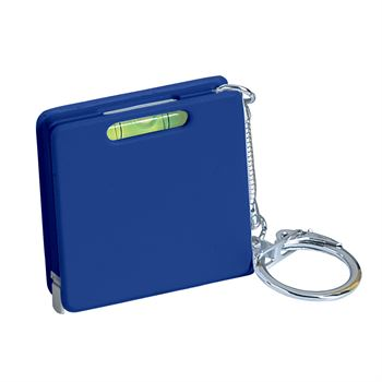 Square Tape Measure With Level And Key Tag