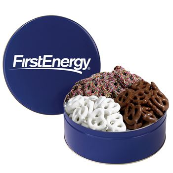 3-Way Pretzel Tin - Personalization Available