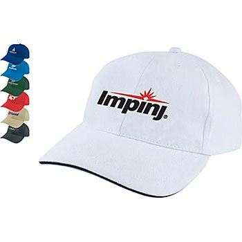Pro 6-Panel 100% Brushed Cotton Twill Sandwich Cap - Personalization Available