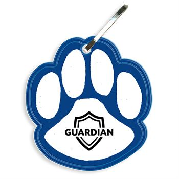 Paw Reflective Zipper Pull - Personalization Available