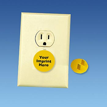 Round Safety Outlet Plug- Personalization Available