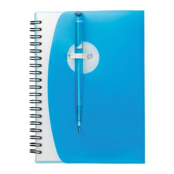 Sun Spiral Notebook With Matching Ballpoint Pen & Exterior Pen Loop - Personalization Available
